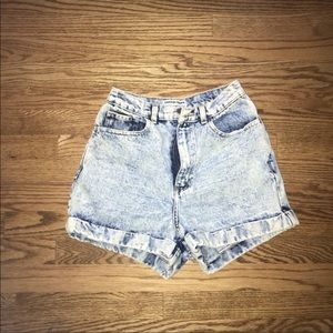 American appareal acid wash high waisted shorts